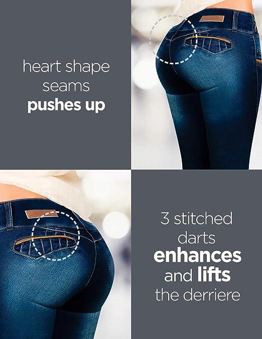 Aranza Pantalones Colombianos Levanta Cola Butt Lifting Colombian Jeans Mid Rise