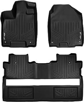SMARTLINER Custom Fit Floor Mats 2 Row Liner Set Black for 2017-2019 Honda Ridgeline Crew Cab All Models