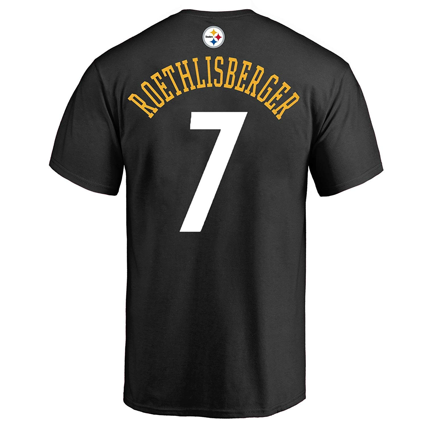 a5fce556ebe Amazon.com   Outerstuff Ben Roethlisberger Pittsburgh Steelers  7 Black  Youth Performance Name   Number Shirt   Sports   Outdoors