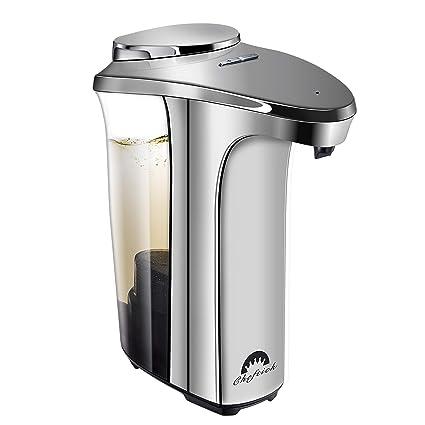 Cheftick Dispensador de jabón automático, Dispensador de jabón líquido para lavamanos Ajustable con Sensor de