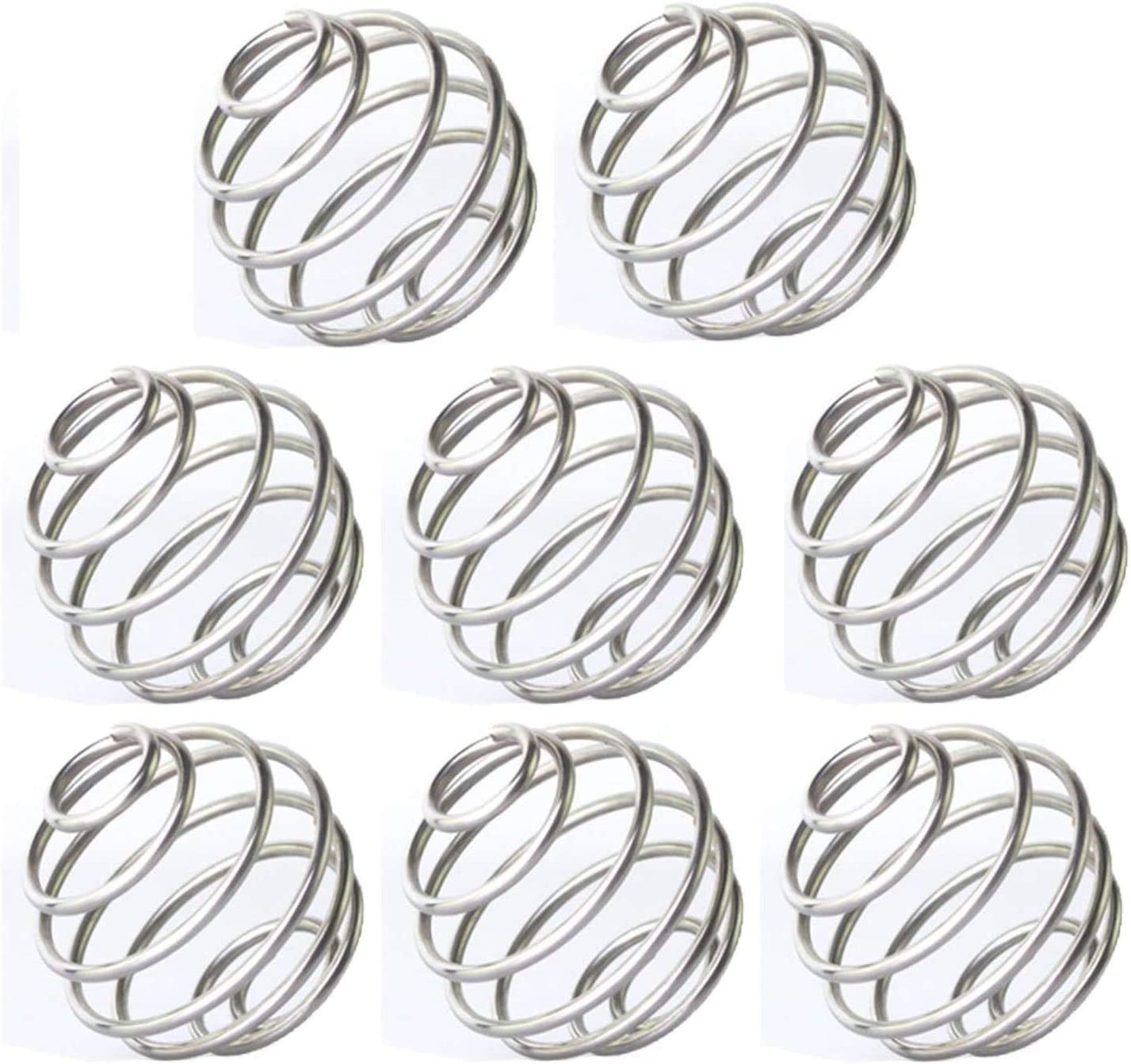 Mocollmax Stainless Whisk Ball Wire Shaker Ball, Wire Mixer Mixing Whisk Ball Replacement For Shaker Cup,Pack of 8, 2.1