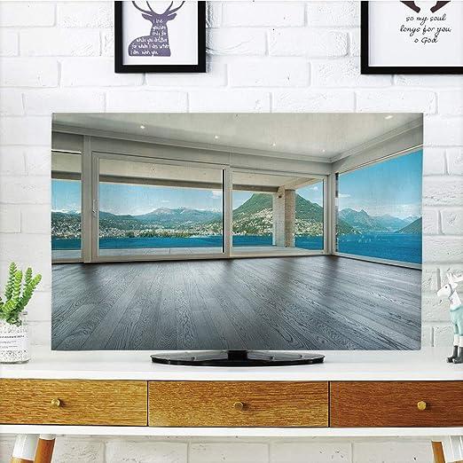 iprint LCD TV Cubierta de Polvo, Paisaje, Puente y Barco Antiguo ...