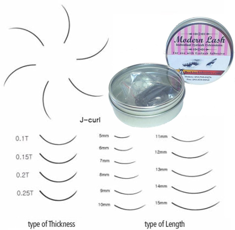Modern Lash EyeLash Extensions J - Curl Lashes  2mm Thick 1 0 gram Choose  Length (12mm Long)