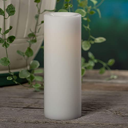 Sterno Home Premier All-Weather Wax Flameless LED Candle, 3 x 8 , White