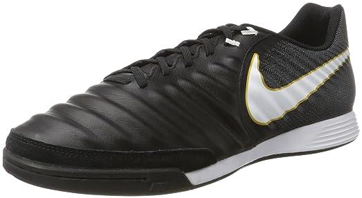 83192b00908e ... spain nike mens tiempox ligera iv leather ic indoor soccer shoe sz. 7  black 097d2