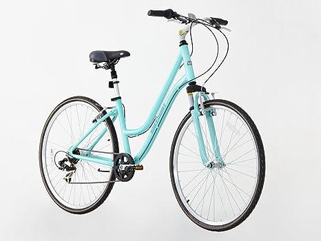 Bicicleta de ciudad/híbrida con marco de aleación, suspensión ...
