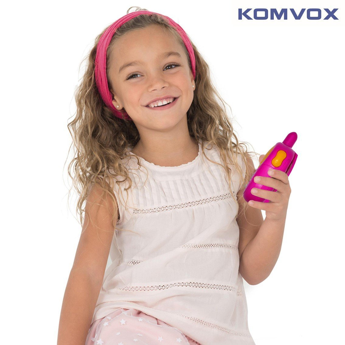 KOMVOX Walkie Talkies for Kids, Toys for Girls Age 3 4 5 6, Kids Birthday Gifts for 3 4 5 Year Old Girls, Top Toys for Girls Pink Gifts by KOMVOX (Image #6)