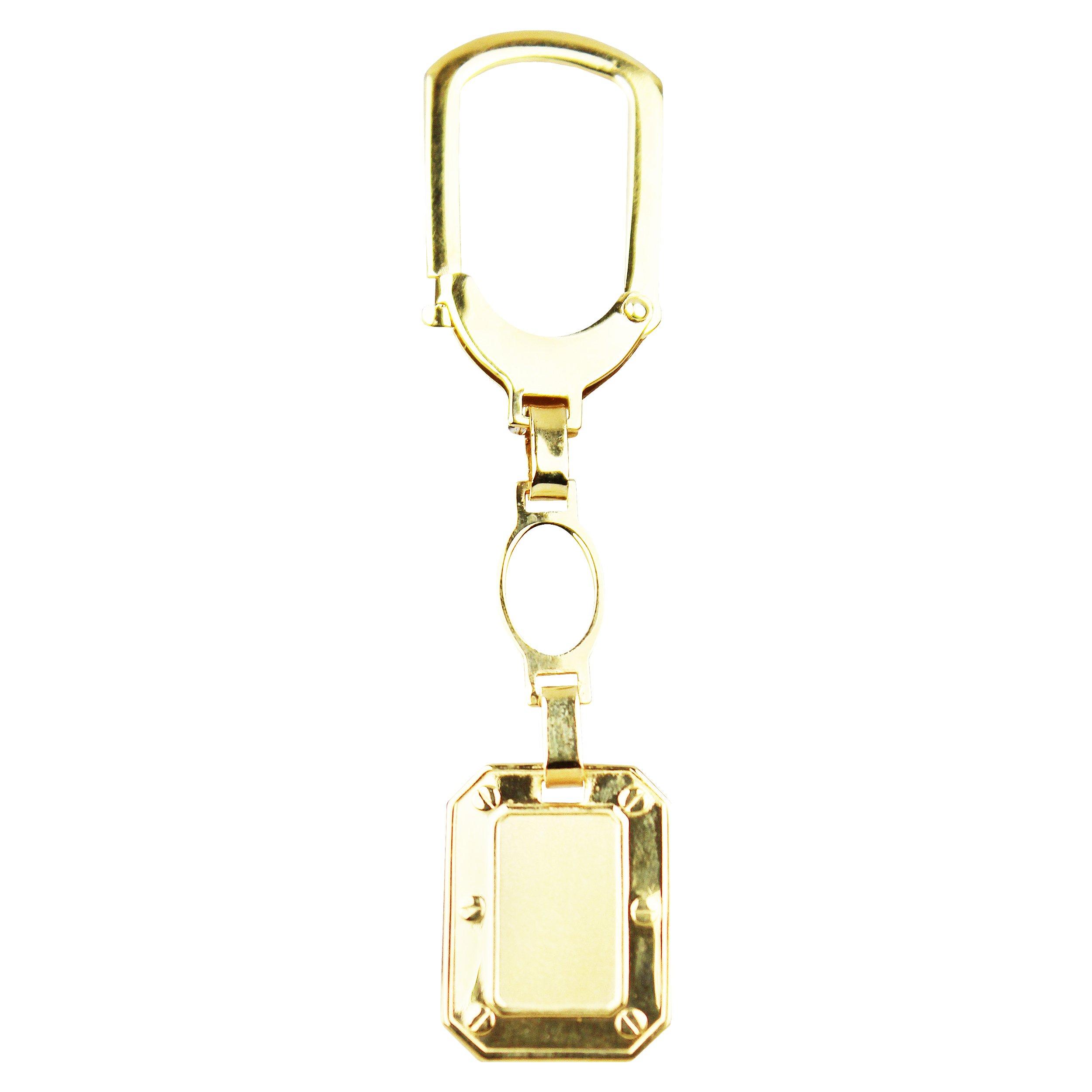 14k Yellow Gold Octagon Key Chain