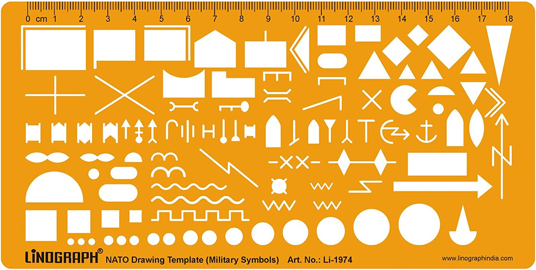 Ejército de la OTAN mapa táctico militar símbolos de marcado ...