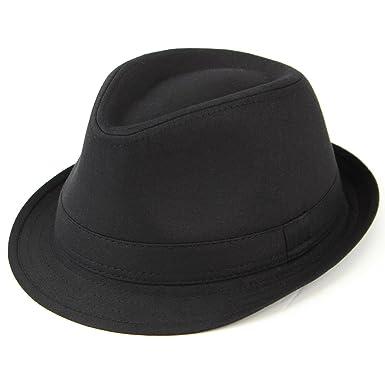 e027927b69feb8 Hawkins plain cotton trilby hat black or white: Amazon.co.uk: Clothing