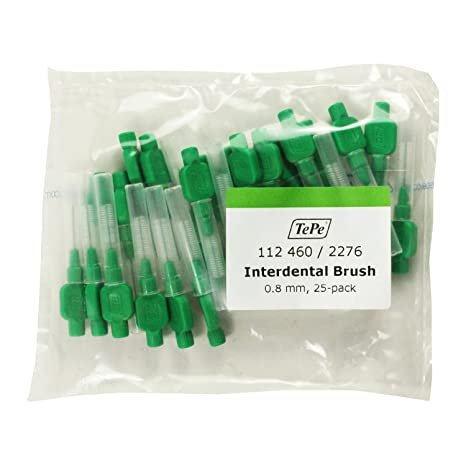Cepillos Interdentales TePe (Paquete de 25) (0.80mm verde)