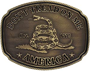 American Gadsden Don't Tread on Me Heritage Attitude Buckle - A515C