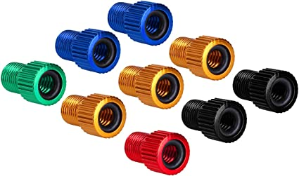 10pcs Pump Bicycle Convert Presta to Schrader Bike Valve Adaptor Tube Pump SL