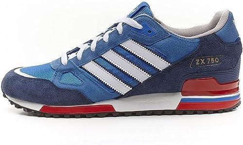 Blanco Cuña Día del Niño  Adidas Originals Herren-ZX 750 Schuhe (47 1/3, blau / rot / weiß):  Amazon.de: Schuhe & Handtaschen
