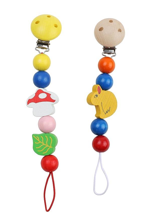Cadena de Chupete Bebé Set 2: Amazon.es: Juguetes y juegos