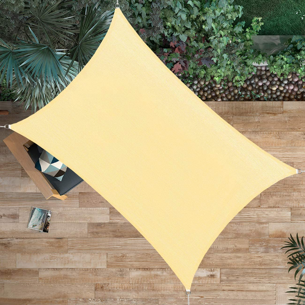 Ogrmar Shade Sail Canopy Durable Fabric Canopy Block Top Cover Rectangle for Patio Backyard Garden Pool Outdoor Activities (12'X16').