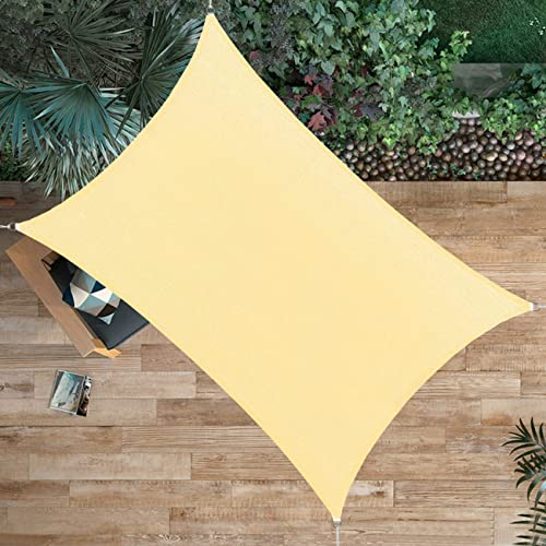 Ogrmar Shade Sail Canopy Durable Fabric Canopy Block Top Cover Rectangle
