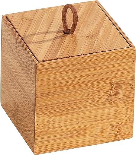 Wenko Terra - Organizador de bambú (3 compartimentos, caja de almacenamiento, cesta para el baño), marrón, Maße (B x H x T): 9 x 9 x 9 cm: Amazon.es: Hogar