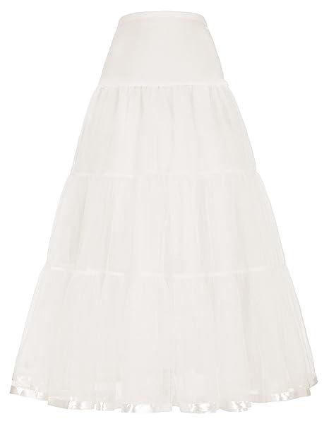 Femme Petticoat en Tulle Maxi pour Soirée de Bon Qualité - Beige - Taille L d6e84dacf80c