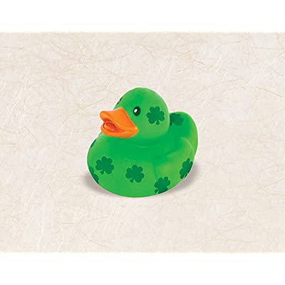"Amscan 399485 St. Patrick's Day Duck Toy, 2 1/2"" x 1 1/2"", Green: Kitchen & Dining"