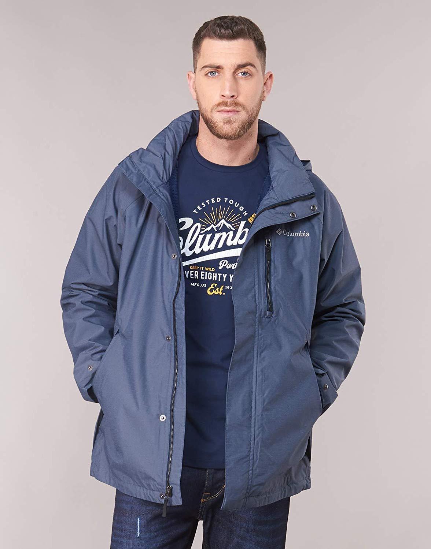 Columbia Giacca impermeabile da Uomo, Good Ways II Jacket, Nylon, Marrone (Beach Heather), Taglia: L, 1840731