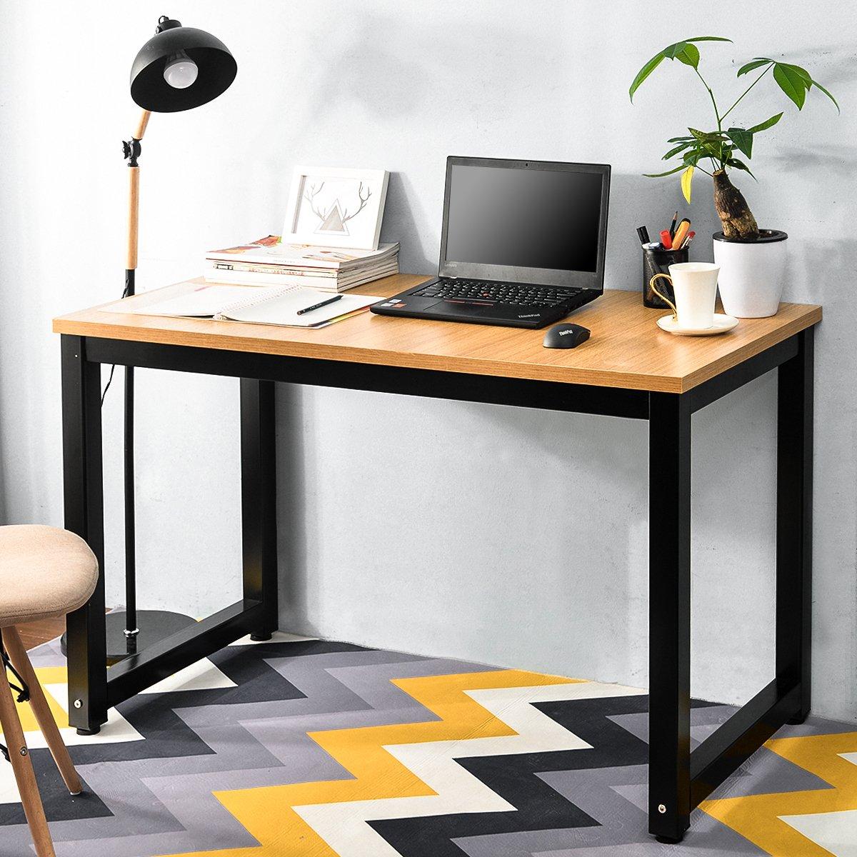 Tribesigns Computertisch Schreibtisch 25mm Dicke Moderner Bürotisch PC  Tisch Arbeitstisch Für Home Office Arbeitzimmer ,Schreibtisch Für ...