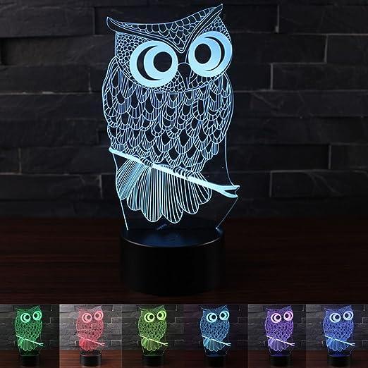 Amazon.com: Erhard 3d Luz Nocturna lámpara de mesa ...