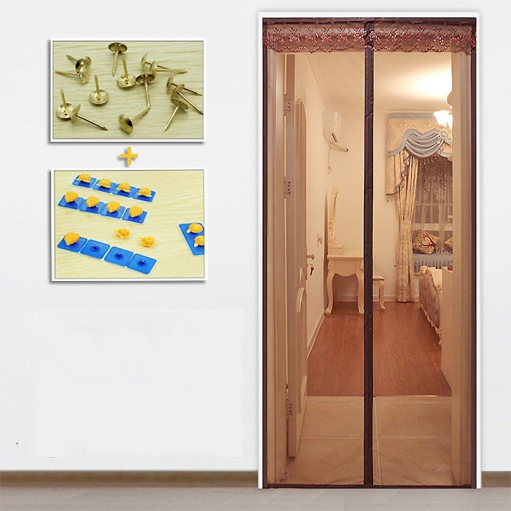 Artículos para el hogar ZHFC ZHFC Velcro Suave de Lujo Pantalla magnética de la Puerta mosquitera Cortina, Verano, Partición, Pantalla,A_110x240cm: Amazon.es: Hogar