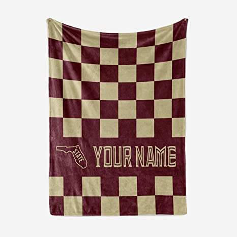 Amazon Florida State University Themed Custom Fleece Throw Classy Mens Throw Blanket