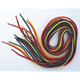 10 Pack of Coloured Threading Laces