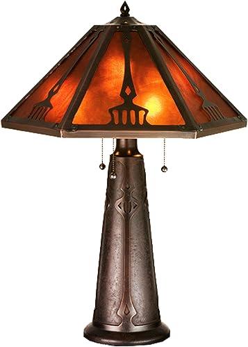 Meyda Home Indoor Decorative Lighting Accessories 29 H Grenway Amber Mica Table Lamp