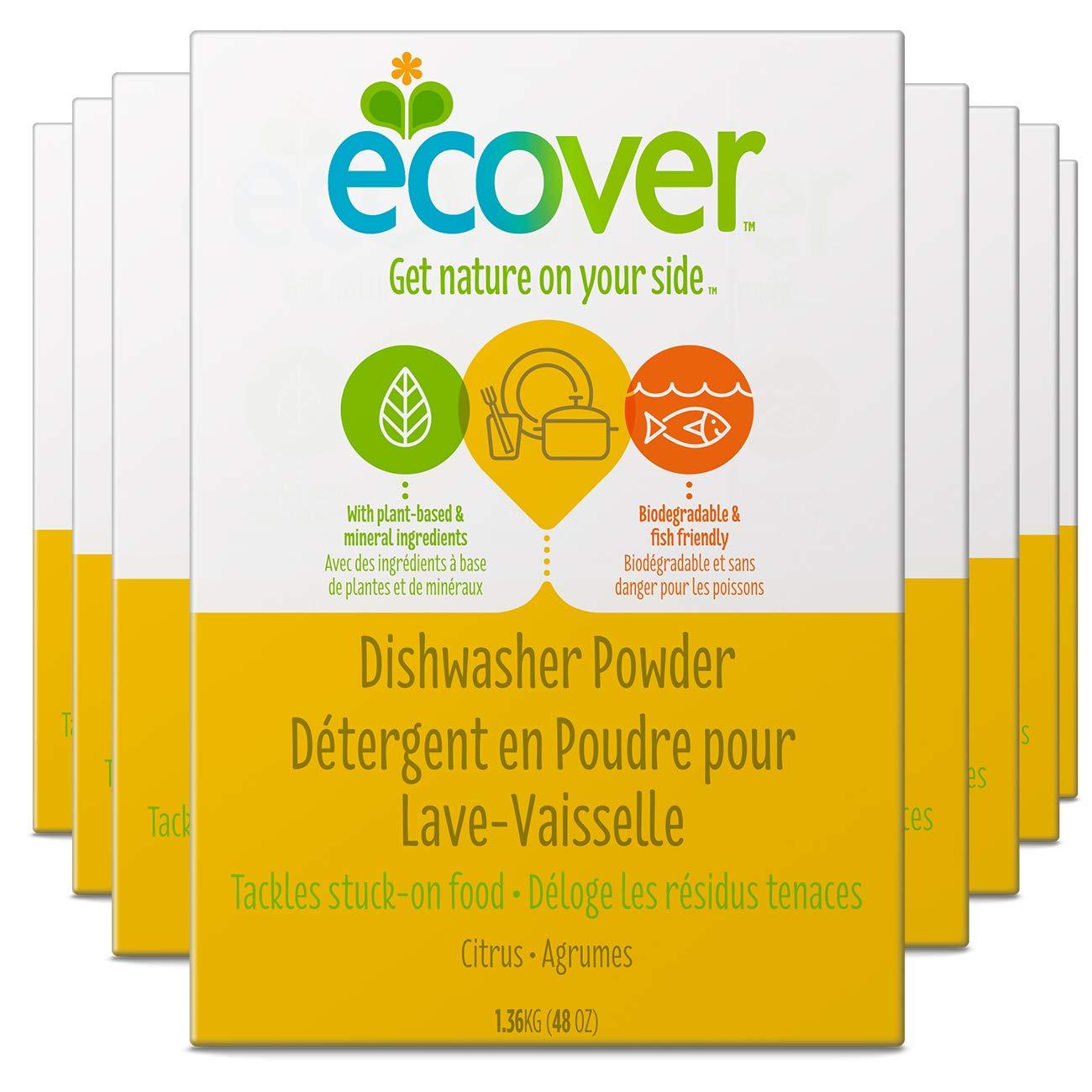 Ecover - Detergente, Natural lavavajillas polvo, aroma cítrico, 48 ...