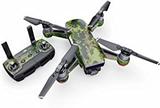 product image for CAD Camo Decal for Drone DJI Spark Kit - Includes Drone Skin, Controller Skin and 1 Battery Skin