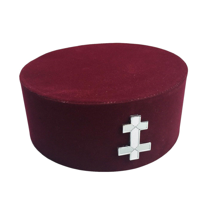 Masonic Knight Templar KT Preceptor Cap/Hat with Case