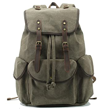02be91d0e9878 BAOSHA CN-01 Stilvolle Canvas Vintage Rucksäcke Damen Herren Schulrucksack Retro  Backpack für Campus Studenten