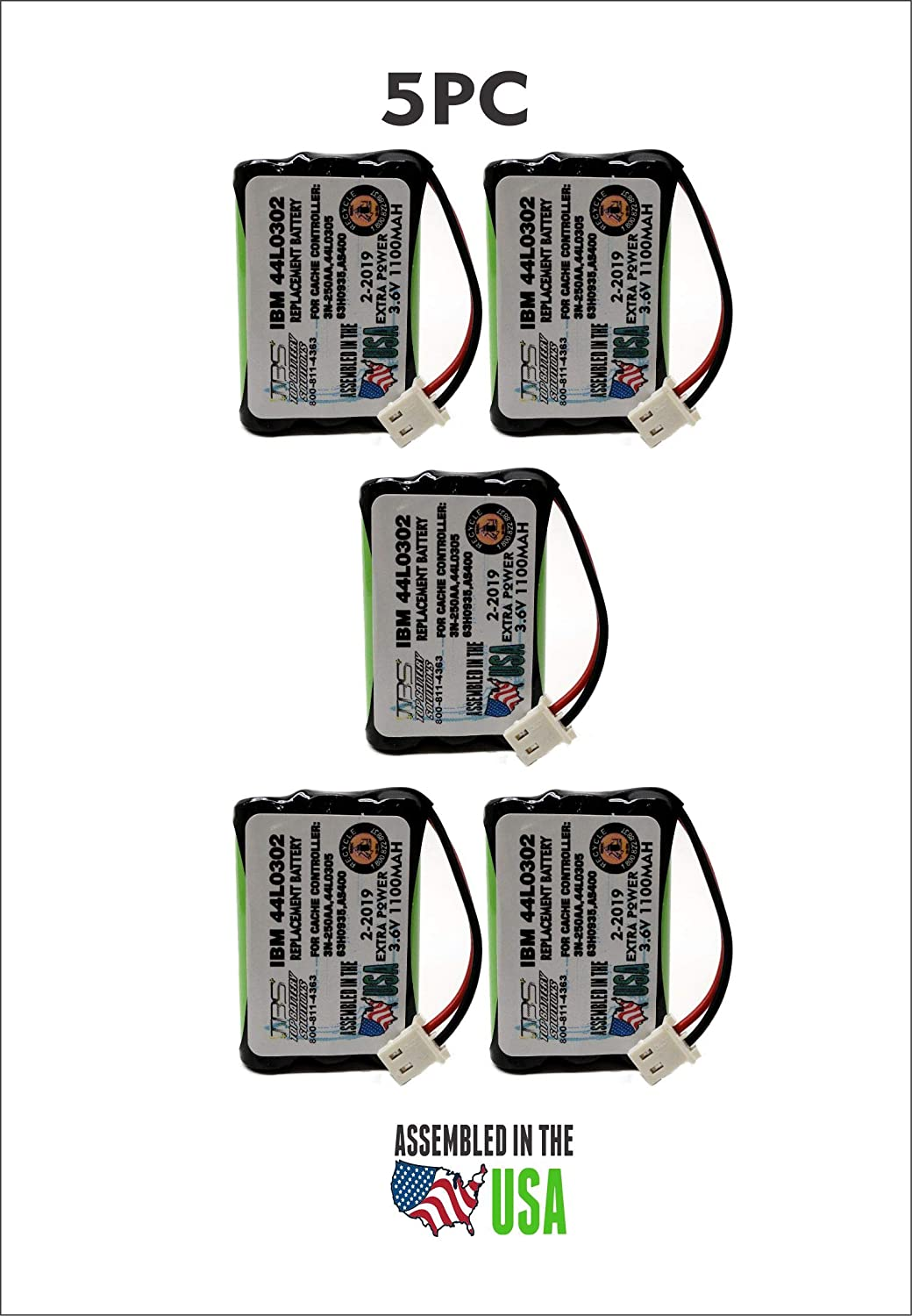 Amazon com: 5PC IBM 44L0302 Replacement Battery for AS/400 Cache
