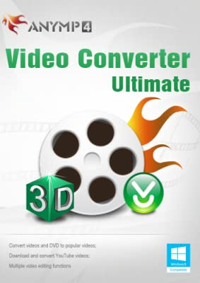 AnyMP4 Video Converter Ultimate 1 Year License - 4K video/1080p HD video and MP4, MKV, M4V, MOV video [Download]