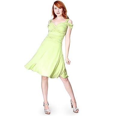605a262681d3 EVANESE Women's Slip On Elegant Cocktail Short A Line Dress with Shoulder  Bands XS, AppleGreen