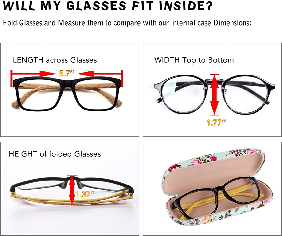 Floral Women Glasses Spectacle Cases Hard Small Slim Women Eye wear Protective Box for Ladies Girls