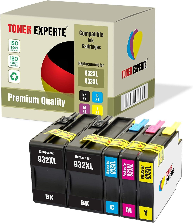 2 XL TONER EXPERTE® Compatibles con HP 932XL 932 XL CN053AE ...