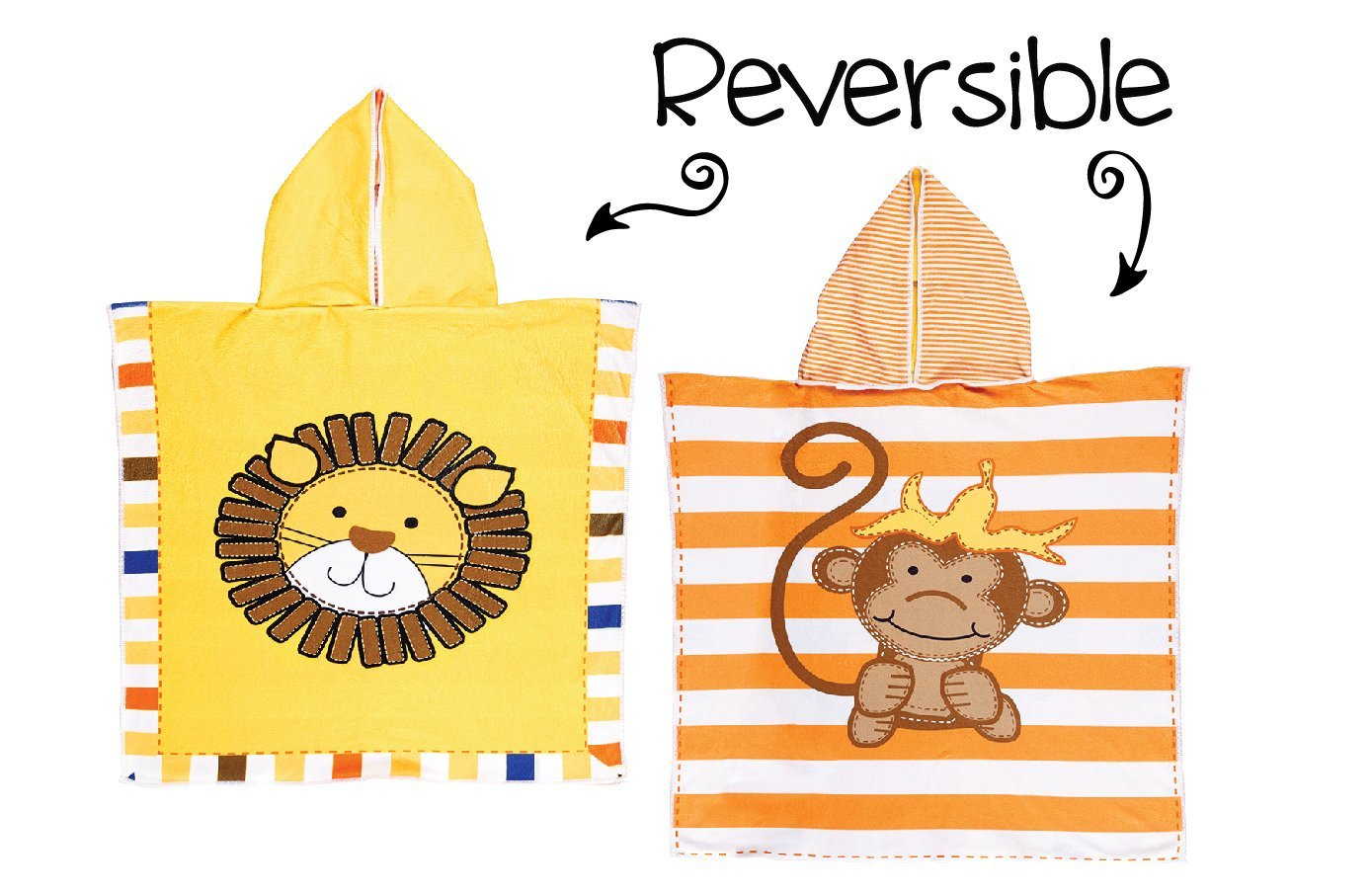 FlapJackKids UPF 50+ Reversible Cover up with Hood-One Size