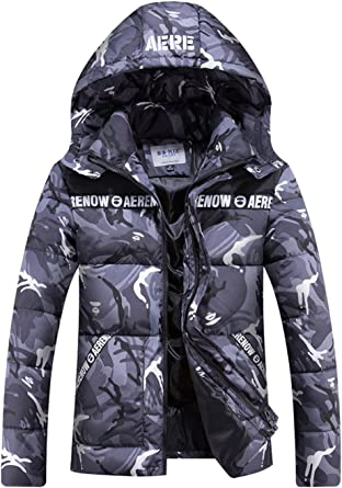 Beloved Little Girl Fashion Slim Fit Camouflage Print Puffer Down Coat