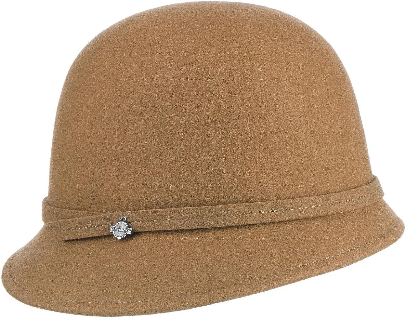 Fiebig Glocke Wollfilz schwarz Damen Hut Winter Charleston Hüte Filzhut