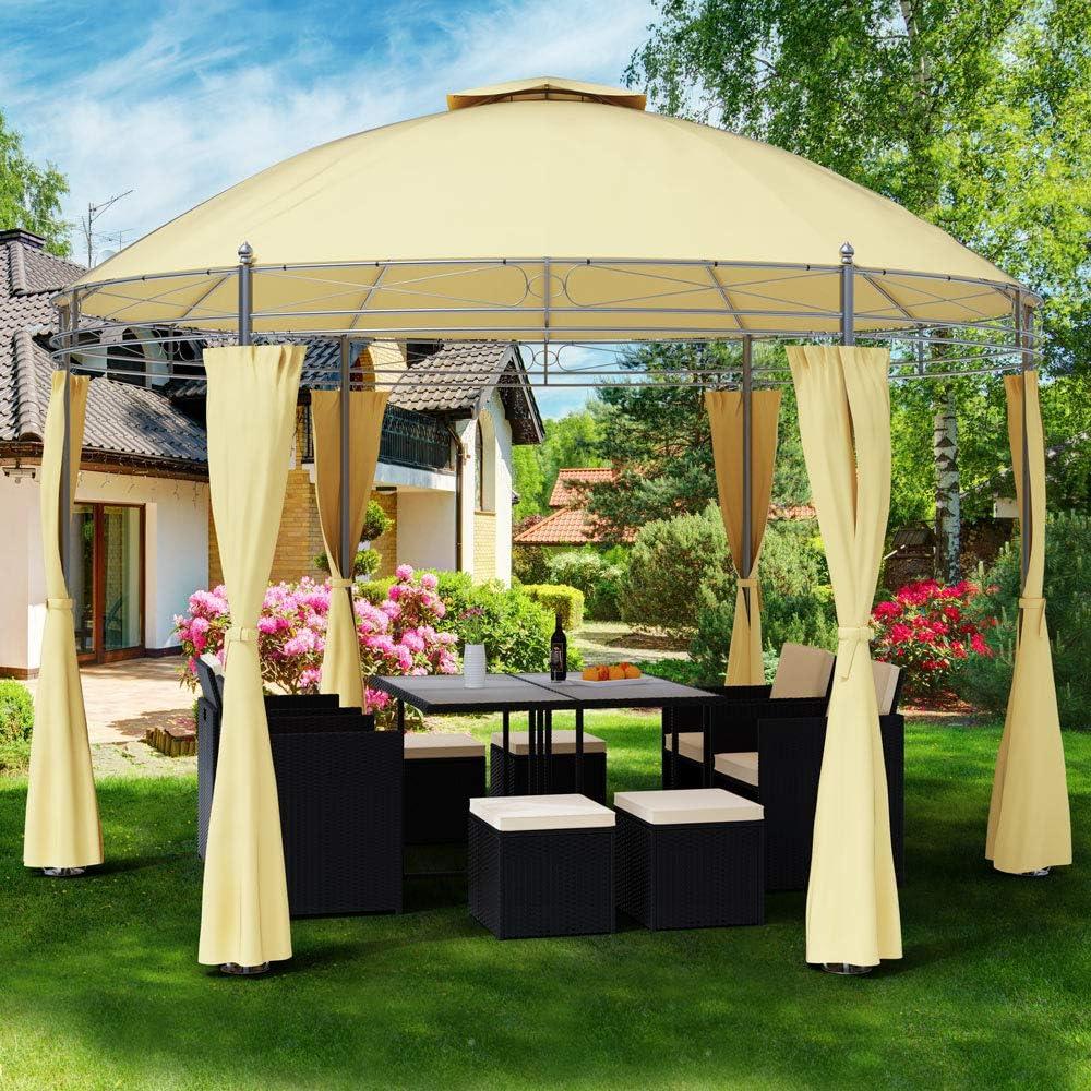Deuba Carpa Toscana de 3, 5 m Color Crema pabellón de jardín ...