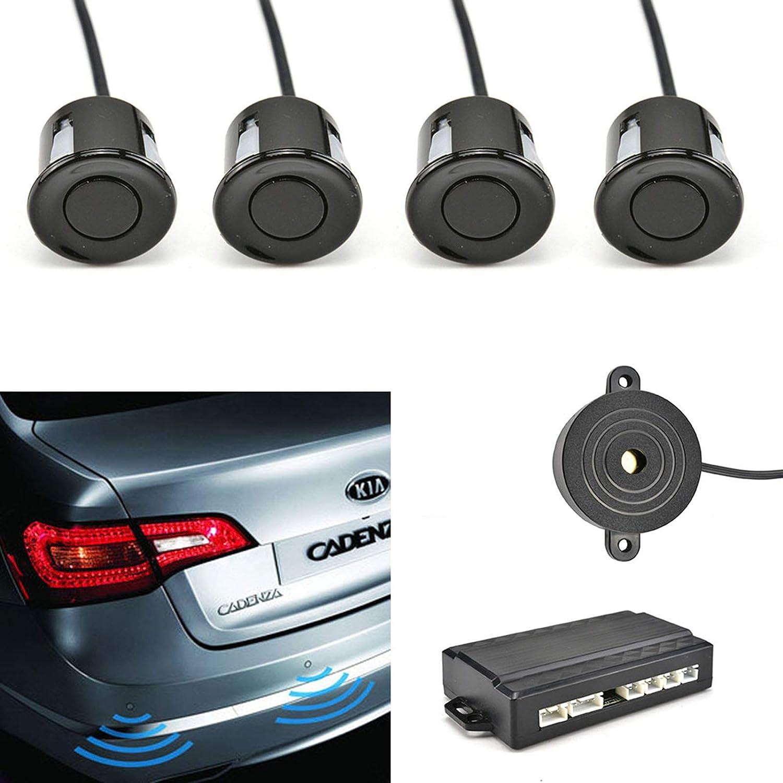 Car Rear Reversing Parking Sensors Car Reverse Parking Radar System 4 Sensors Kit