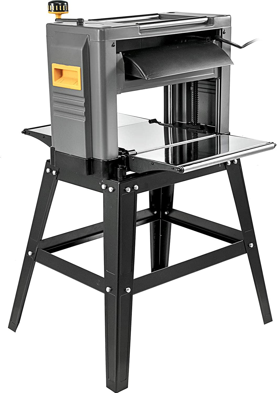 Amazon Com Mophorn Thickness Planer 12 5inch Thickness Planer Woodworking 15amp Double Cutter Benchtop Thickness Planer 1500w With Free 1 Set Blade And Stand Heavy Duty Dust Exhaust For Woodworking Furniture Decor