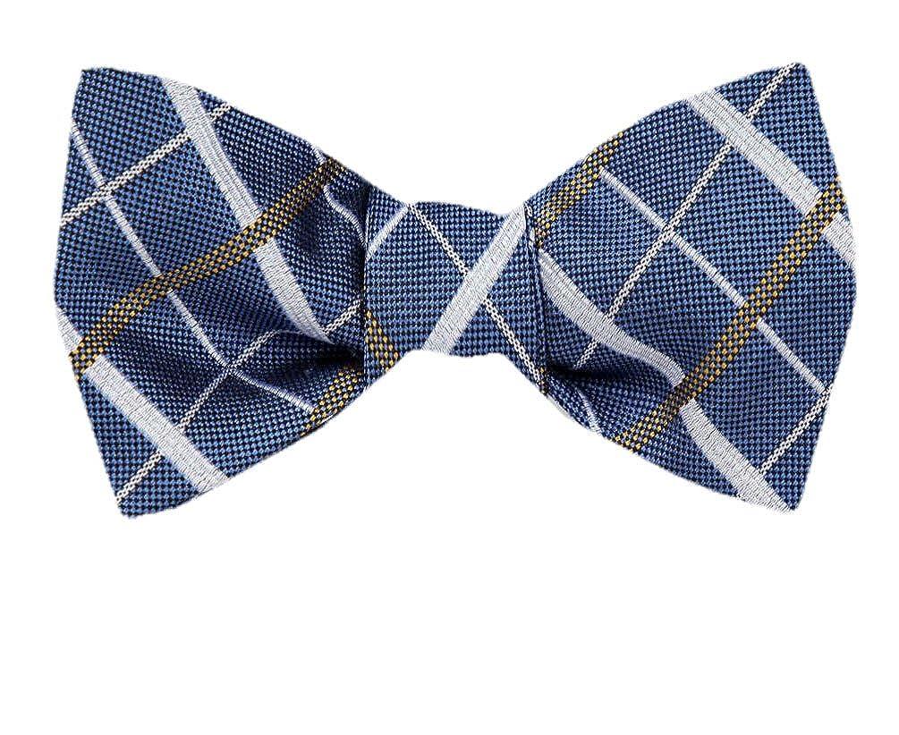 FBTZ-1215 Mens Silk Self Tie Bowtie Tie Yourself Bow Ties