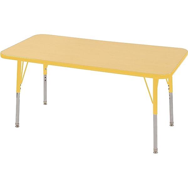 ECR4Kids Mesa mesa de actividades escolar rectangular con fusible ...