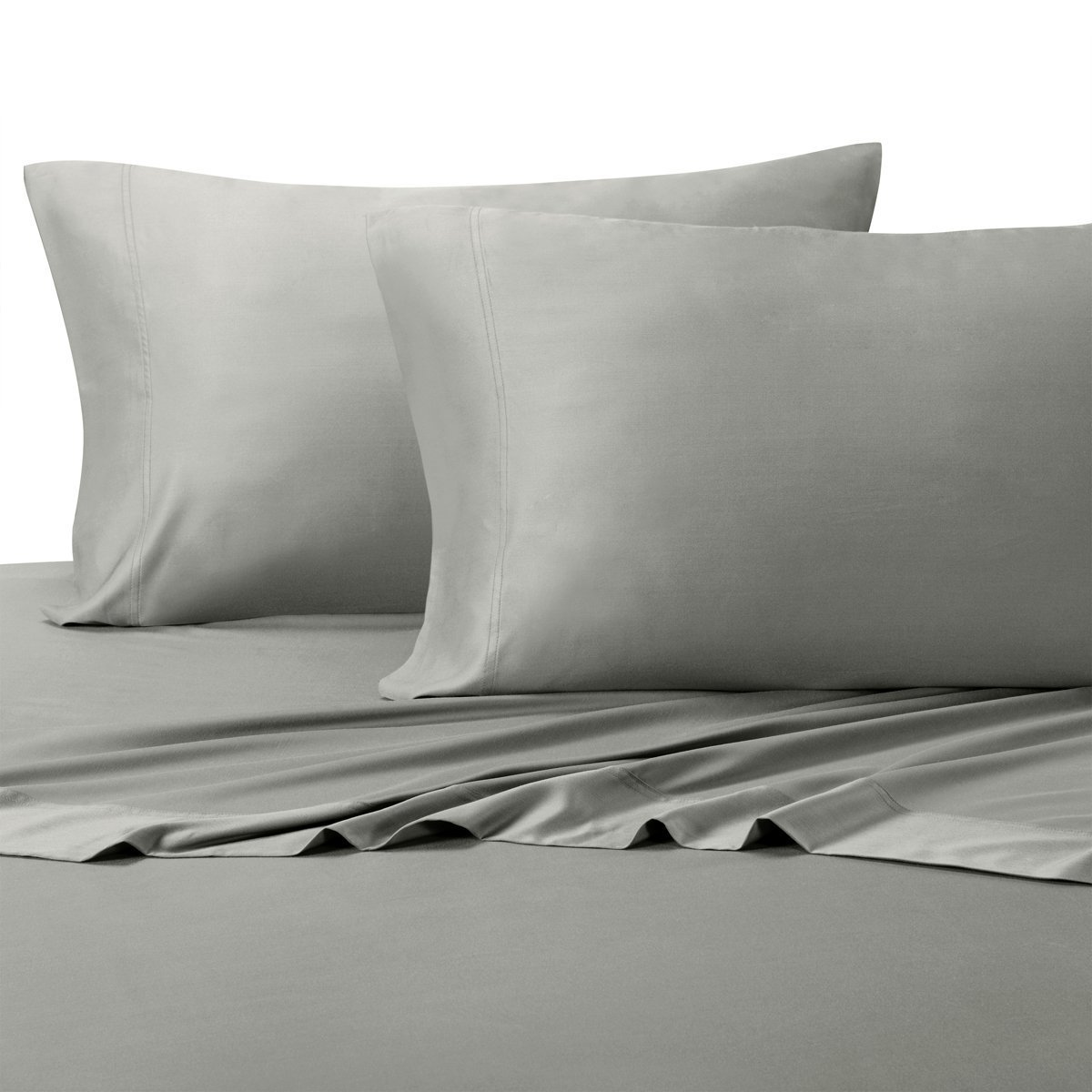 Luxury Heavy Weight 100% Natural Cotton Flannel Sheet Set [ Flat , Fitted & Pillow Cases ] - California King - Gray