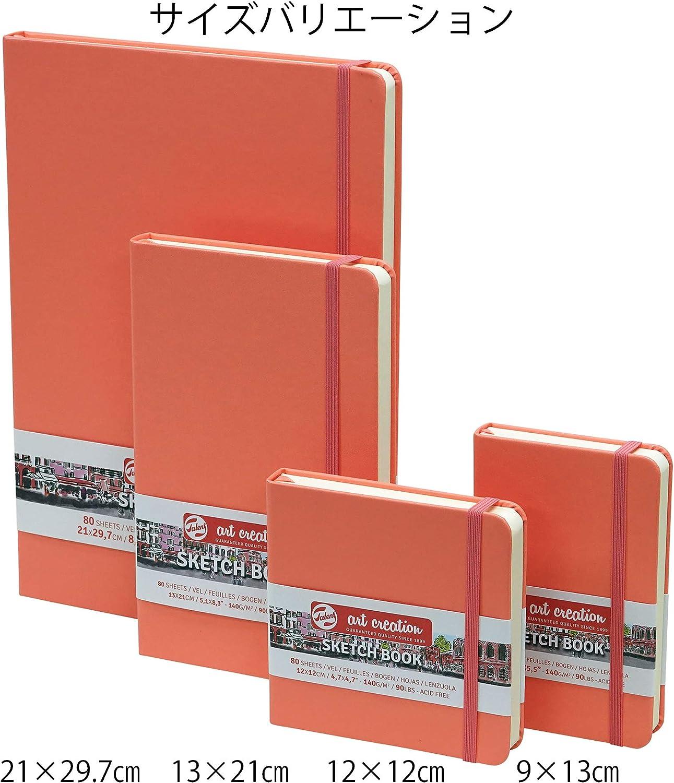 Cuaderno de bocetos Royal Talens Art Creation de 80 hojas de 140 g//m/² 13 x 21 cm color rojo coral